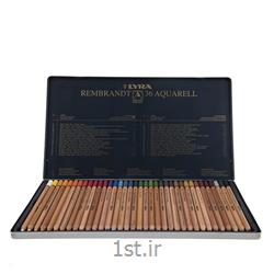 مداد رنگی 36 رنگ حرفه ای لیرا مدل آبرنگی<