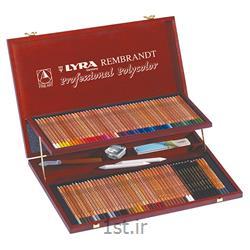 مداد رنگی 100 رنگ حرفه ای لیرا مدل Rembrandt Polycolor<