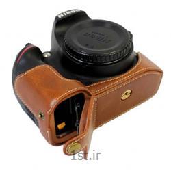 کاور چرم طبیعی دوربین نیکون D7200 قهوه ای روشن<