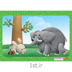 جورچین (پازل )کودکانه 35 تکه ای فیل وخرگوش - نشر جمال<