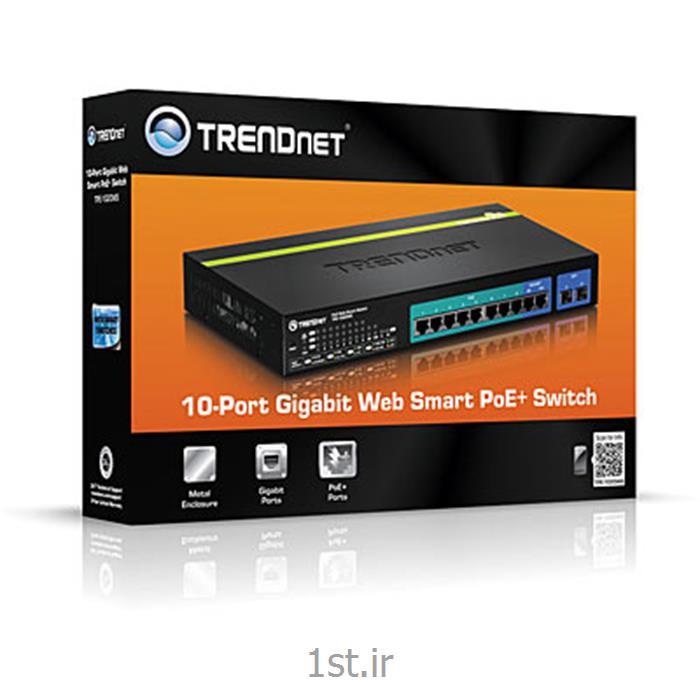 عکس سوئیچ شبکهترندنت سوئیچ 10 پورت PoE مدل TPE-1020WS