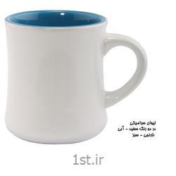 ماگ سرامیکی تبلیغاتی(در دو رنگ سفید آبی - نارنجی سبز)