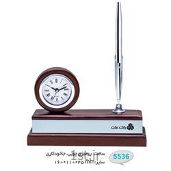 ساعت رو میزی چوبی تبلیغاتی (جاخودکاری) 5536