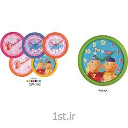 ساعت دیواری تبلیغاتی گرد قاب رنگی طرح کودک CW102