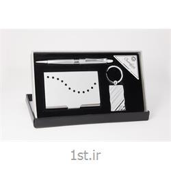 ست هدیه مدیریتی تبلیغاتی 3 تیکه خودکار، جاکارتی، جاکلیدی SM47