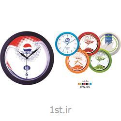 ساعت دیواری تبلیغاتی گرد قاب رنگی CW95