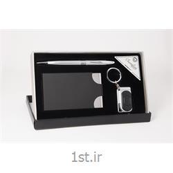 ست هدیه مدیریتی تبلیغاتی 3 تیکه خودکار،جاکارتی ، جاکلیدی SM46