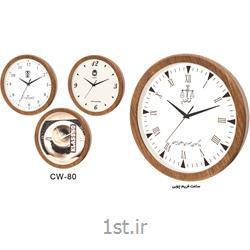 ساعت دیواری تبلیغاتی گرد فریم چوبی cw80