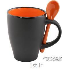 لیوان سرامیکی تبلیغاتی (به همراه قاشق) MC31