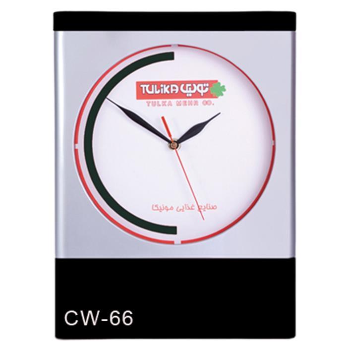 ساعت دیواری تبلیغاتی مستطیلی صفحه گرد cw66