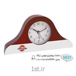 ساعت رو میزی چوبی تبلیغاتی زنگدار 5531