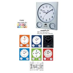 ساعت دیواری تبلیغاتی مستطیلی صفحه گرد_قاب رنگی(مدل فیلیپس) CW99