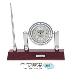 ساعت رو میزی مدیریتی چوبی تبلیغاتی(جاخودکاری،خودکار) 5564