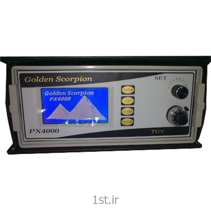 عکس فلزیاب صنعتیدستگاه فلزیاب گلدن اسکورپیون مدل GOLDEN SCORPION PX 4000