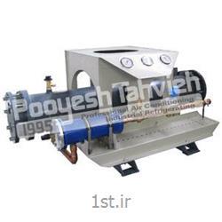 عکس مبدل حرارتیکندانسور آبی (پوسته و لوله) Water cooled condenser - shell & tube