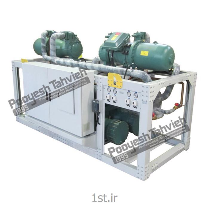 چیلر آب خنک 180 تن نامی اسکرو water cooled water chiller - screw R134a