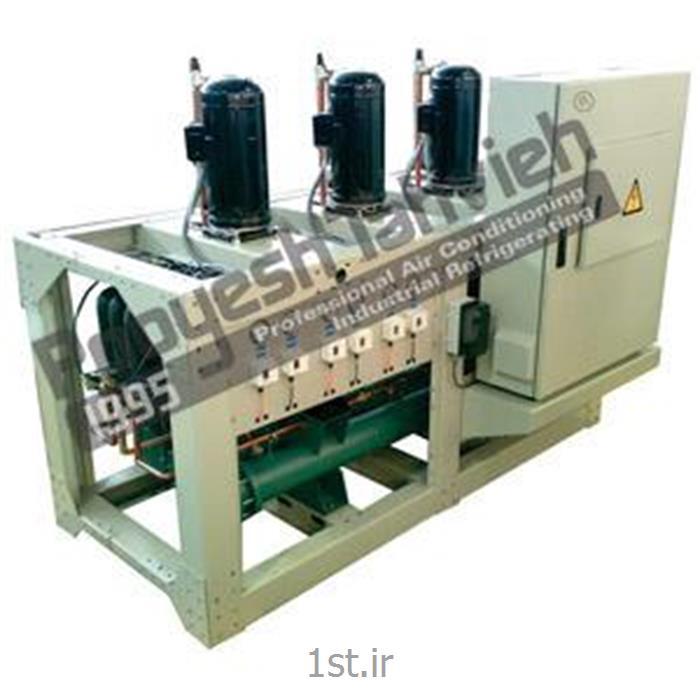 عکس قطعات و تجهیزات سرمایشی، گرمایشی و تهویه مطبوعچیلر تراکمی آبی (کمپرسور اسکرال) R407c water cooled water chiller - reciprocating compressor