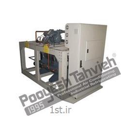 عکس قطعات و تجهیزات سرمایشی، گرمایشی و تهویه مطبوعچیلر تراکمی آبی شرکت پویش تهویه (کمپرسور پیستونی) R407c water cooled water chiller - reciprocating compressor