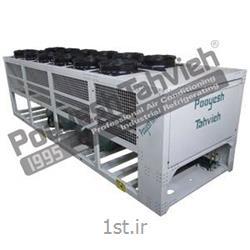 چیلر صنعتی تراکمی هوایی (هوا خنک) شرکت پویش تهویه (کمپرسور اسکرو) R134a packaged air cooled water chiller - screw compressor