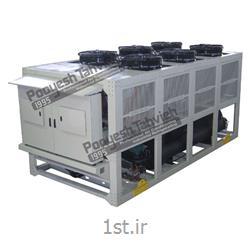 چیلر تراکمی هوایی شرکت پویش تهویه (کمپرسور پیستونی) R407c packaged air cooled water chiller - reciprocating compressor
