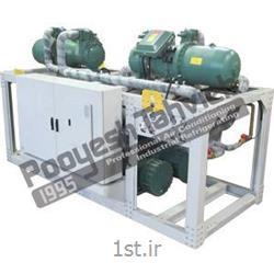 چیلر صنعتی تراکمی آبی شرکت پویش تهویه (کمپرسور اسکرو) R134a water cooled water chiller - screw compressor