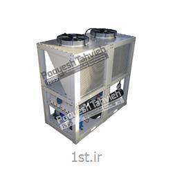 چیلر صنعتی تراکمی هوایی (هوا خنک) شرکت پویش تهویه (کمپرسور اسکرال) R134a packaged air cooled water chiller - scroll compressor