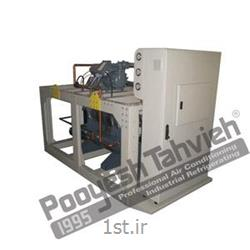 عکس قطعات و تجهیزات سرمایشی، گرمایشی و تهویه مطبوعچیلر تراکمی آبی شرکت پویش تهویه (کمپرسور پیستونی) R134a water cooled water chiller - reciprocating compressor