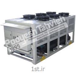 چیلر صنعتی تراکمی هوایی شرکت پویش تهویه (کمپرسور پیستونی) R22 packaged air cooled water chiller - reciprocating compressor
