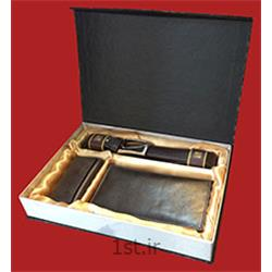عکس جعبه بسته بندیجعبه هارد باکس ام دی اف برای کیف و کمربند مردانه