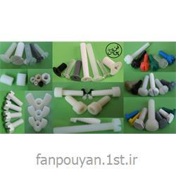 پیچ و مهره پلاستیکی، تفلون، پلی آمید، PVDF و PEEK