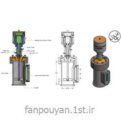 عکس راکتور (رآکتور)رآکتور آزمایشگاهی  1500cc فشار بالا، دارای همزن مگنت درایو و پنجره دید
