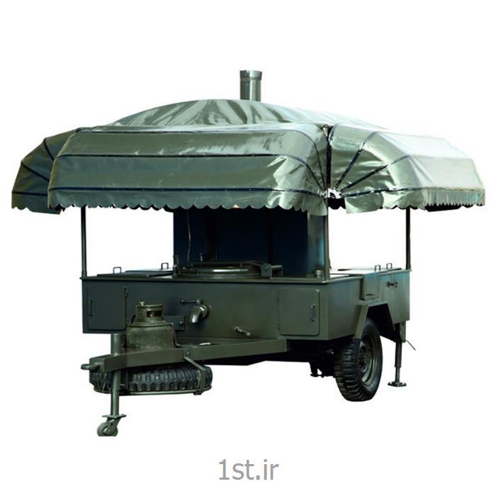 عکس تجهیزات پختآشپزخانه سیار صحرایی سه چرخ