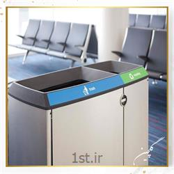 عکس سطل زباله (سطل آشغال)سطل زباله استیل گلچین مدل TG6-1