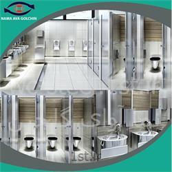 عکس طراحی دکوراسیونهتلینگ سرویس بهداشتی استیل