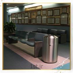 عکس سطل زباله (سطل آشغال)سطل زباله استیل معابر گلچین مدل TG6-1