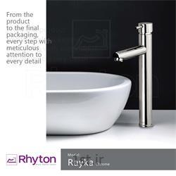 عکس شیرآلات روشوییشیرآلات ریتون مدل رایکا  - کروم مات