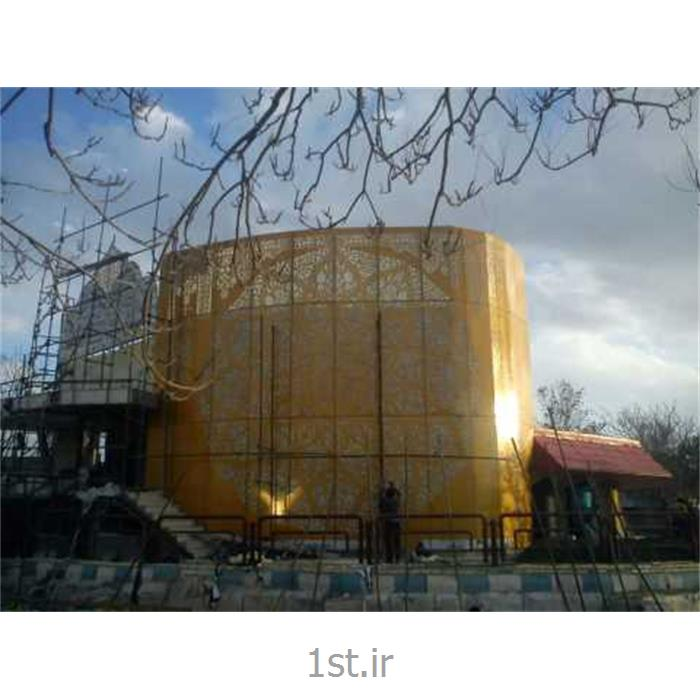عکس پروژه های ساخت و سازنمای ساختمانی کامپوزیت آلومینیوم آلوباند usa