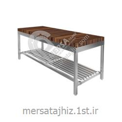 میز کار رویه چوبی آشپزخانه صنعتی