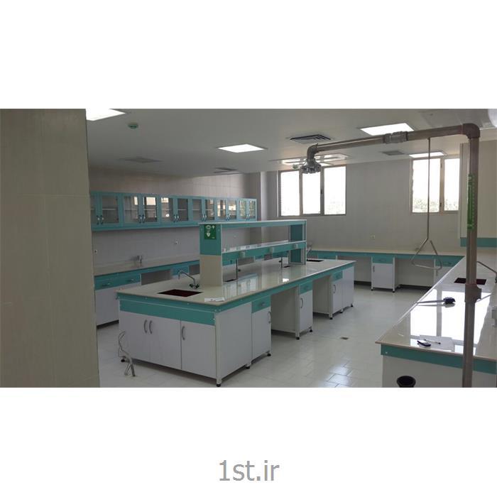 میز وسط یا جزیره آزمایشگاهی با رویه سرامیک