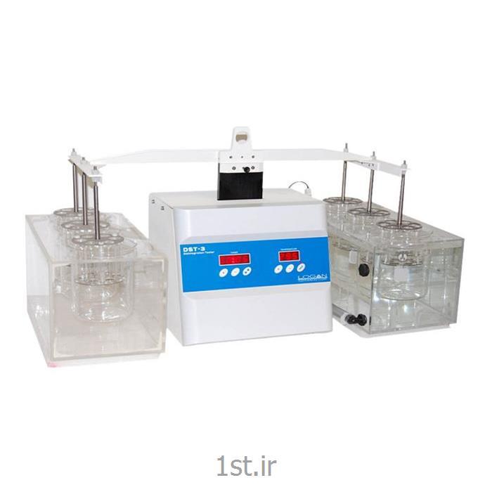 عکس تجهیزات تست کردن ( آزمایش )دستگاه تست از هم پاشیدگی قرص ساخت شرکت Logan آمریکا مدل DST 3/6