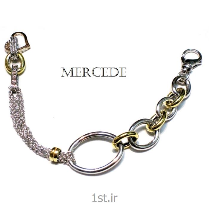 دستبند نقره طرح آی گل کد18-0112