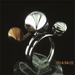 انگشتر نقره طرح هندسی رامینا 08-0215