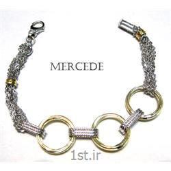 دستبند نقره طرح آی گل کد 8-0112