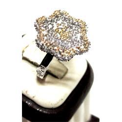 انگشتر نقره طرح توکا 0220-1