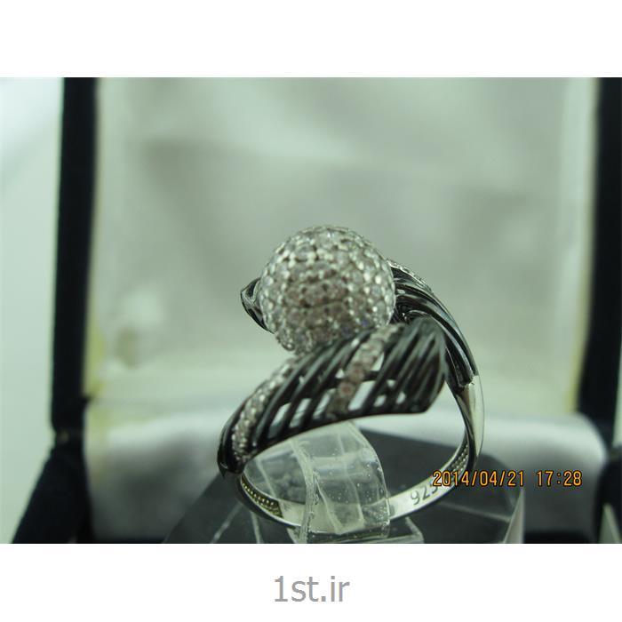انگشتر نقره طرح هندسی رامینا 65-0215