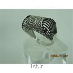 انگشتر نقره طرح هندسی رامینا 49-0215