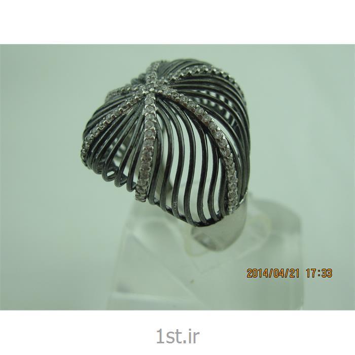 انگشتر نقره طرح هندسی رامینا68-0215