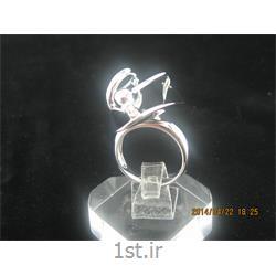 انگشتر نقره طرح هندسی رامینا 29-0215