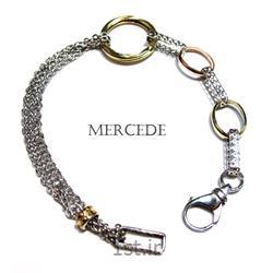 دستبند نقره طرح آی گل کد16-0112