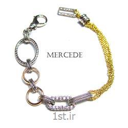 دستبند نقره طرح آی گل ک18-0112